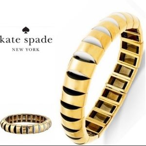 Kate Spade sliced scallops gold & black bracelet